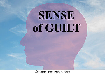 Sense of Guilt - mental concept - Render illustration of...