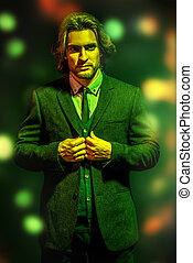 forceful handsome man - Portrait of a handsome fashion man...