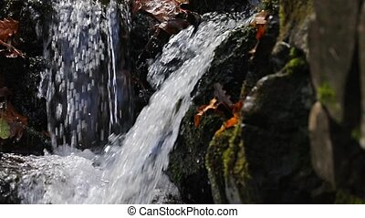 Waterfall detail panning - Waterfall slow motion from 120...