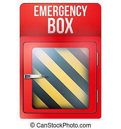 Empty red box with in case of emergency