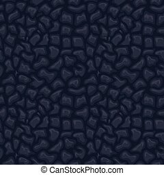 Black seamless leather texture. Vector skin