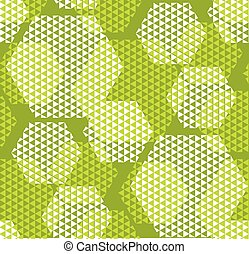 concept modern geometry hexagone pattern with green color. geometric seamless pattern in digital style for wrapping paper, fabric, background