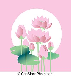 tender elegant white water floral vector illustration for...