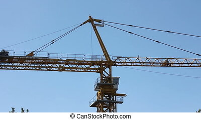 construction crane background blue sky