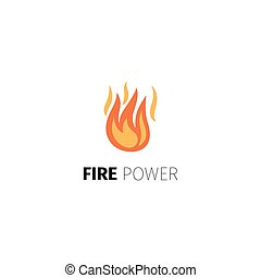Fire power logo template - Fire power icon. Vector fire...