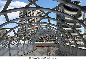 Melbourne - Famous Webb Bridge in Melbourne, Victoria,...