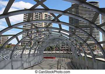 Melbourne - Famous Webb Bridge in Melbourne, Victoria,...