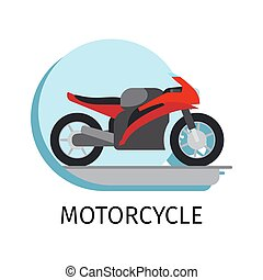 Motorcycle in flat style - Vector motorcycle in flat style...