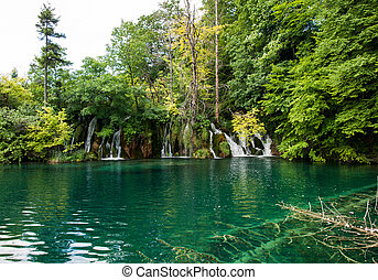 Plitvice Lakes National Park .Croatia - Breathtaking view in...