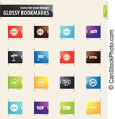 New Stiker and Label Bookmark Icons - New stiker and label...