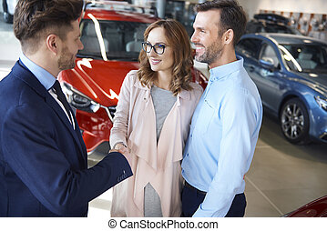 Salesman just received official approval