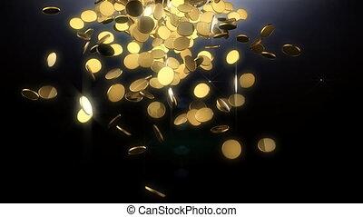 Falling treasure from heaven - Treasure concept