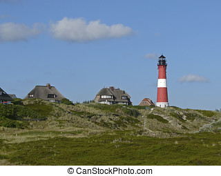 Lighthouse of Hoernum on the Island of Sylt, Germany - The...
