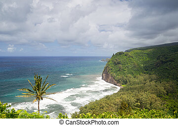 Pololu Valley, Big Island, Hawaii - View on the north coast...
