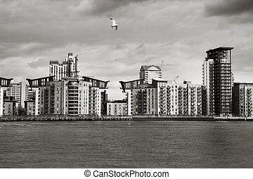 Canary Wharf - corporate and business district in London,...