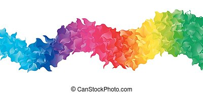 Color Abstract Shape - Vector Color Abstract Mosaic Shape