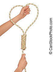 suicide with rope - economic crisis force to suicide with...