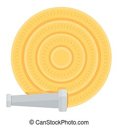 fire hose reel - Fire hose reel on white. Firefighter...