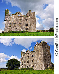 ancient irish celtic castle on a sunny day - photo ancient...