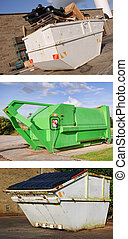 recycle industrial dumper skip outdoors - photo recycle...