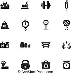Scales icons set - Scales vector icons for user interface...