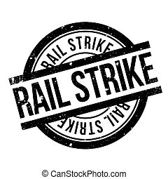 Rail Strike rubber stamp