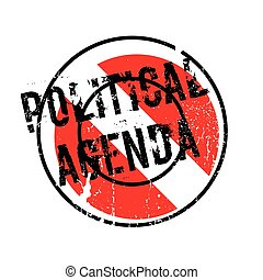 Political Agenda rubber stamp. Grunge design with dust...