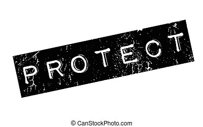 Protect rubber stamp. Grunge design with dust scratches....