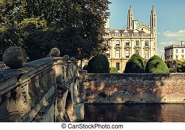 Clare and King`s College, Cambridge,UK - Clare King`s...