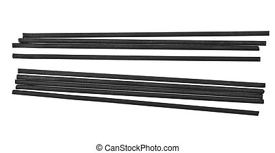 lead pencil isolated on white background closeup