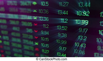 """Display of currency exchange rate on monitor"" - ""Abstract..."