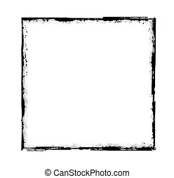 grunge frame - vector - Illustration of the frame in grunge...