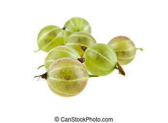 gooseberry isolated on white background closeup