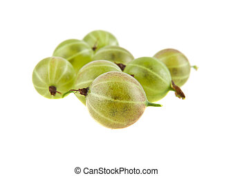 gooseberries isolated on white background closeup