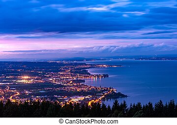 Rorschach, Bodensee, Switzerland - City Rorschach at Lake...