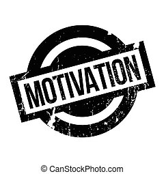 Motivation rubber stamp. Grunge design with dust scratches....