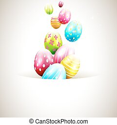 Easter background - Modern Easter background with colorful...