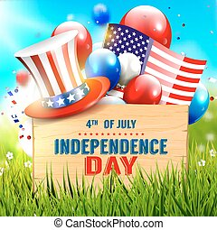 Independence day celebration - vector poster