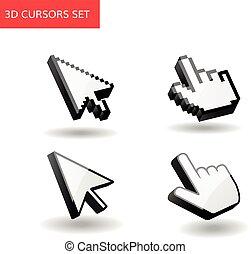 3d cursors set. Pixel mouse