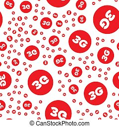 3G seamless pattern - Red 3G seamless pattern on a white...