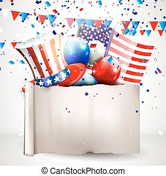 4th of July - Independence day celebration background with...