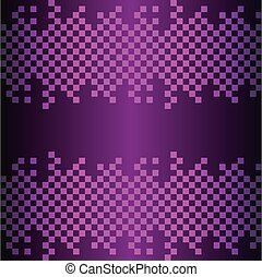 Abstract square on black- purple background