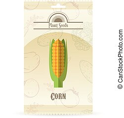 Pack of Corn seeds icon - Vector image of the Pack of Corn...