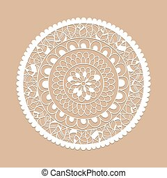 Vector Lacy Circle Pattern