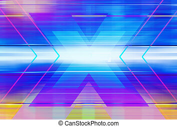 abstract graphic illustration of x - Technology background...