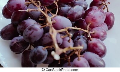 Grapes spins around its axis.