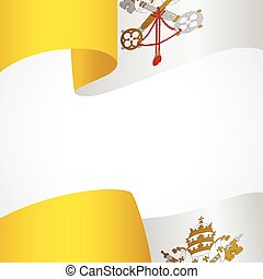 Decoration of Vatican City insignia on white