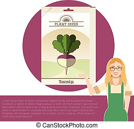 Pack of Turnip seeds icon - Vector image of the Pack of...