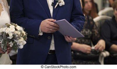 Bride and groom on wedding ceremony