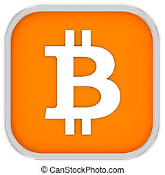 Bitcoin Sign - Bitcoin sign on a white background. Part of a...